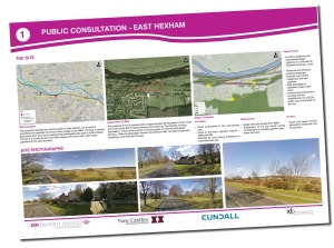 Hexham Consultation Boards Copyright Two Castles