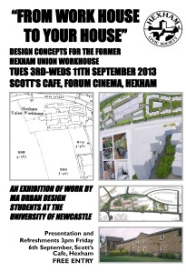 Workhouse Exhibition Poster 3rd to 11th Sept