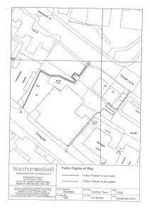 Public Footpath 52 Diversion Order Site Plan
