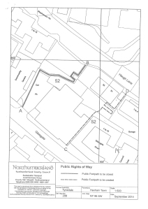 Public Footpath 52 Diversion Order Site Plan