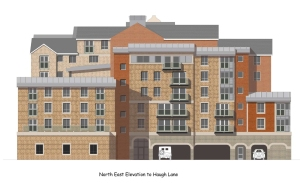 Proposed Haugh Lane elevation - 7 Storey 'Tower of Mabel' - Image Copyright Planning Bureau Ltd